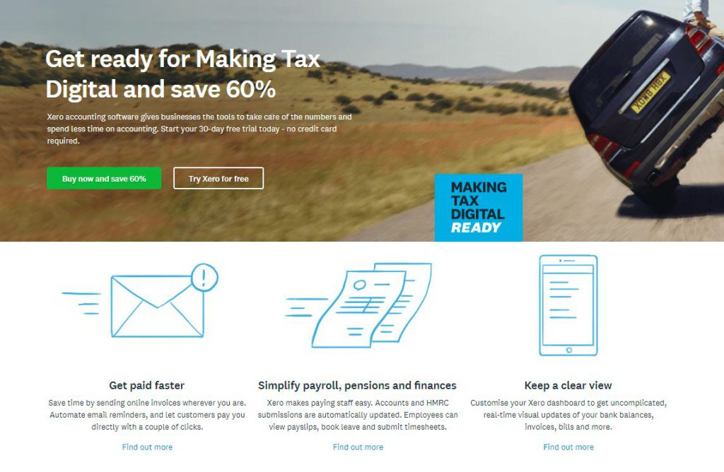 Beacon13 recommends Xero for Accounting software, for making tax digital!